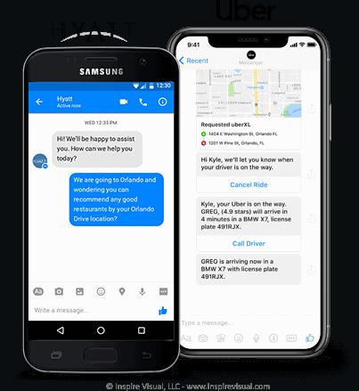 Hyatt and Uber Customer Service Chat