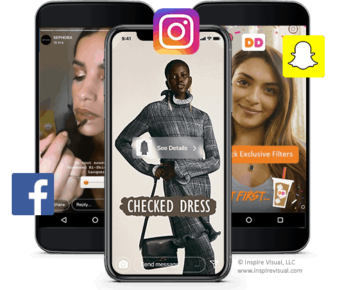 Social Stories from Facebook, Instagram and Snapchat