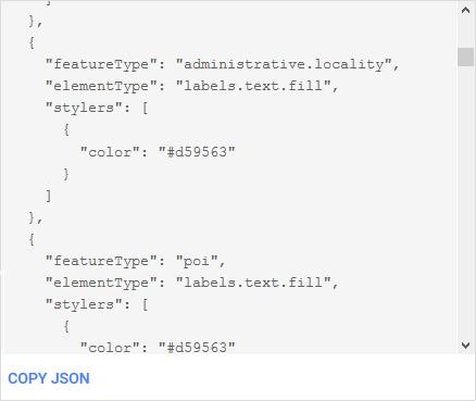 JSON Style Declaration