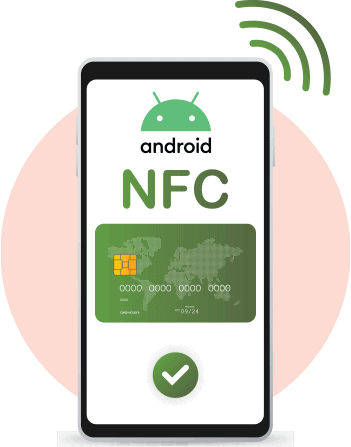 Android also supports NFC in its later models.