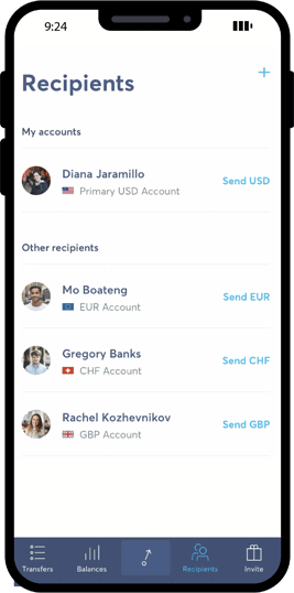 Convienient money transfers overseas in this app.