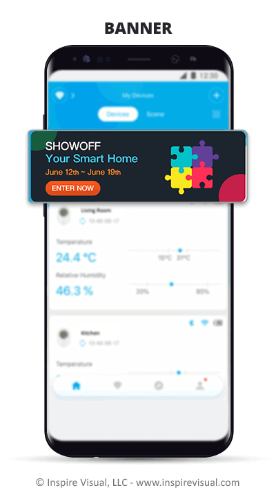 A banner is another way to display mobile ads.