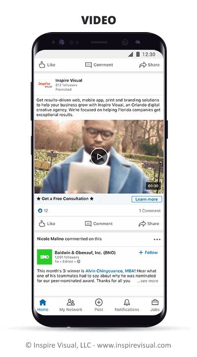 Video based advertising catches the eye and has higher click-through rate.