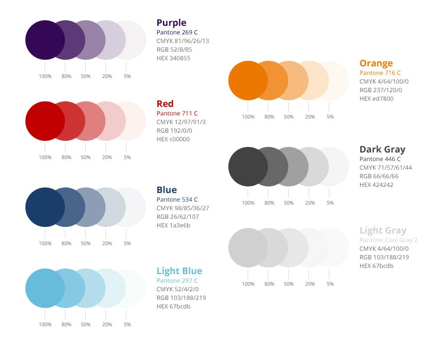 Rebranding Colorpalette Example