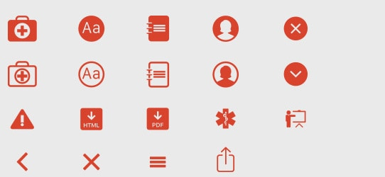 Mobile Application Development Iconography