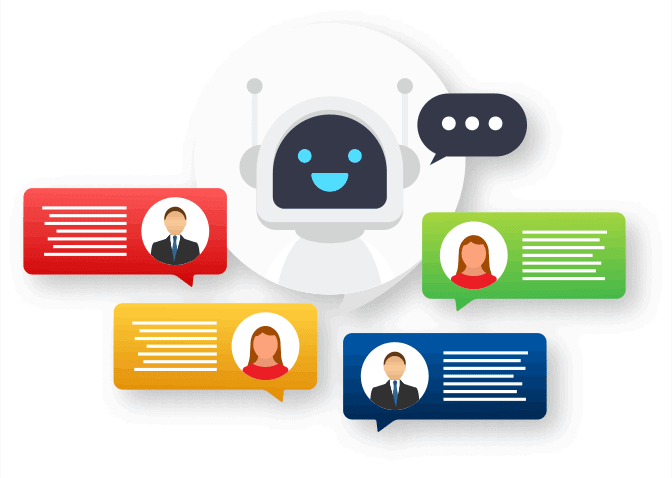 Artifical intelligence is used for making chatbots more usable in customer interactions.