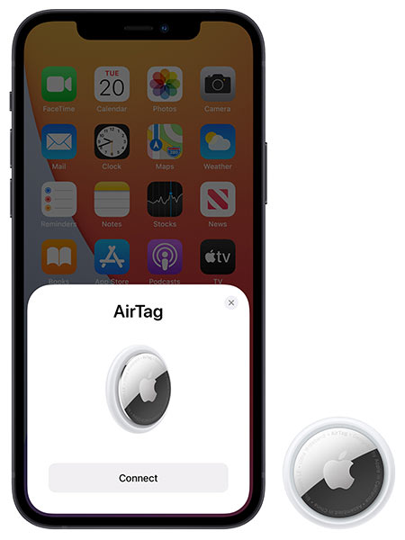 Airtag and iPhone working hand in hand.