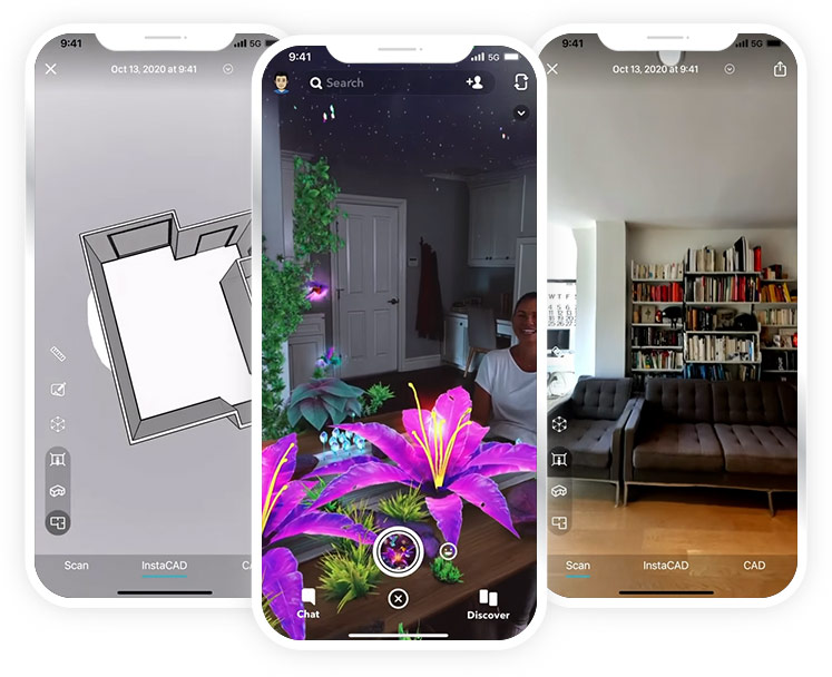 Snapchat and Canvas are some of the apps utilizing Lidar technology.