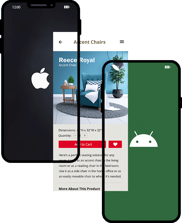 iOS and Android cross-platform app