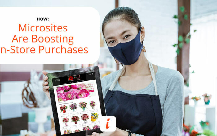 Stores take advantage of cost-effective microsites.