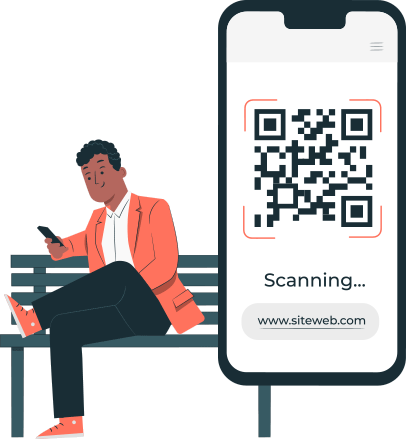 Customer with qr scanned code.
