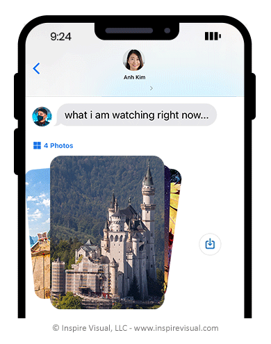 iOS 15 photo collage in messages